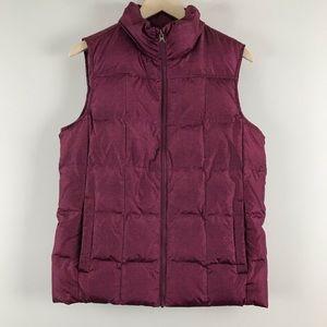 Lands End  Herringbone Print Puffer Vest